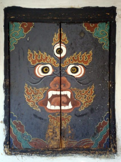 Doors at Jampey Llakhang, Chokhor valley, Bumthang (photograph by the author)